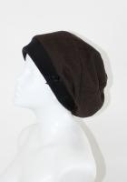 Baskenmütze Fischgrad schwarz/dunkelbraun