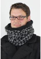 Herren Wende & Kapuzenschal WKH-H11-06 grau/schw. grob Hahnentritt