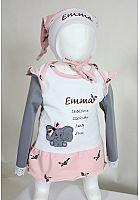 Geburtsdaten Pullover mit individueller Stickerei
