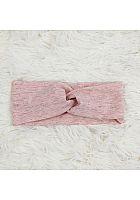 Knotenstirnband melage rosa Glitzer